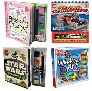 Klutz-Children-Activity-Collection-Book-Set-Lego-Crazy-Star-Wars-Window-Art