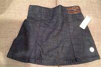 Toughskins Navy Blue Denim Skort Skirt With Shorts 6x