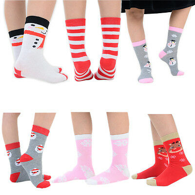 4 Pairs Adult Childrens Fluffy Novelty Christmas Xmas Fun Slipper Gripper Socks