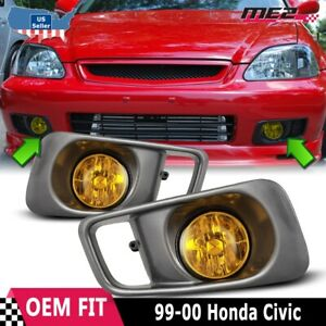 Details about For Honda Civic 99-00 Factory Replacement Fit Fog Lights on