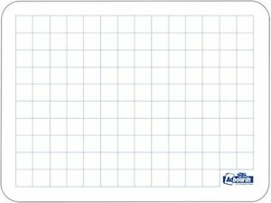 3 pack drywipe a4 show me whiteboard with grid graph maths plus