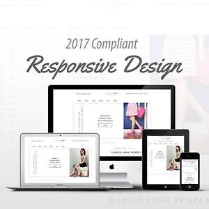 2017 Compliant Mobile Responsive Ebay Auction Listing Template Women's Shoes