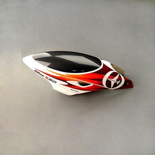 envío Gratuito [THUNDER TIGER] X50 FRP Canopy (Rojo) X50 (PV1310)