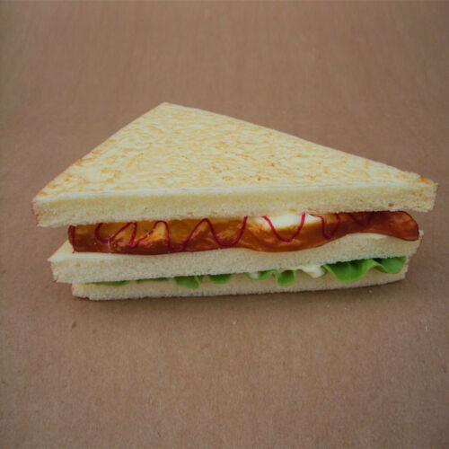 Realistic Fake Vegetable Sandwich Food Pretend Play Bakery Staging Props Toys