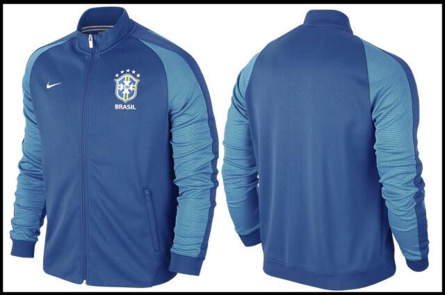 aa68e92700c4 Nike Men s Brasil CBF Soccer Authentic N98 Track Jacket Size Large L ...