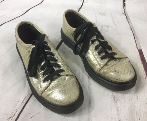 Doc Martens gold mini metallic faux snakeskin  lac