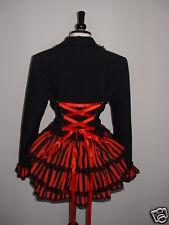 black red corset jacket 14 bustle gothic steampunk burlesque victorian coat SML