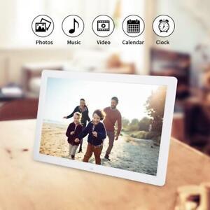 """17"""" HD Digitaler Bilderrahmen Fotorahmen Wecker 1440*900 Mit Fernbedienung ABS"""