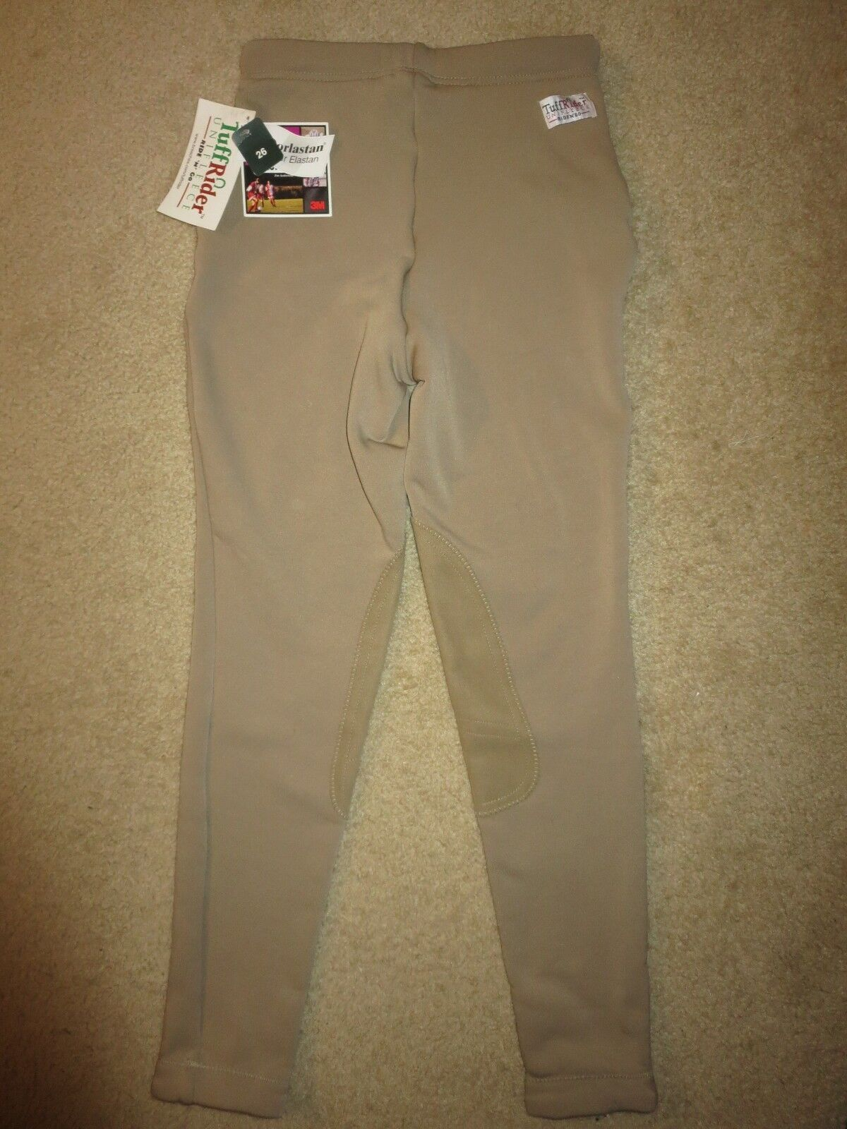 TuffRider Equestrian Unifleece Tan Ribbed Low Rise Riding Breeches  Pants 26 NEW  customers first