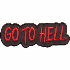 """Motorcycle Club Sergeant """"Go To Hell"""" Patch 1"""" x 4.5"""" #PAT-E729"""
