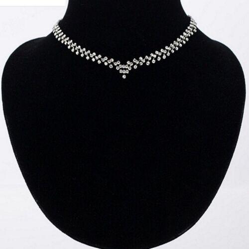 Modisches Zirkonia Collier Halsketten Statement Ketten Choker Braut Cocktail