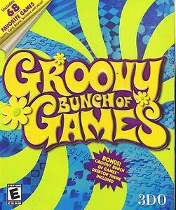 Groovy-Bunch-of-Games-3DO-2000-NIB-large-Box-PC-CD-ROM-Windows-95-98-68-Games