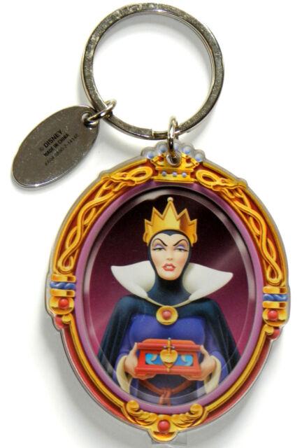 disney world park evil queen magic mirror keychain key ring snow white villain