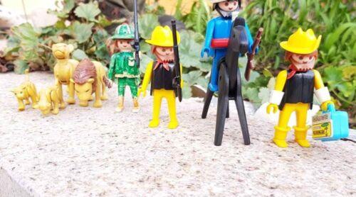 Playmobil Safari 4 Figuren mit Araber & Löwenfamilie 4 Stück um 1980