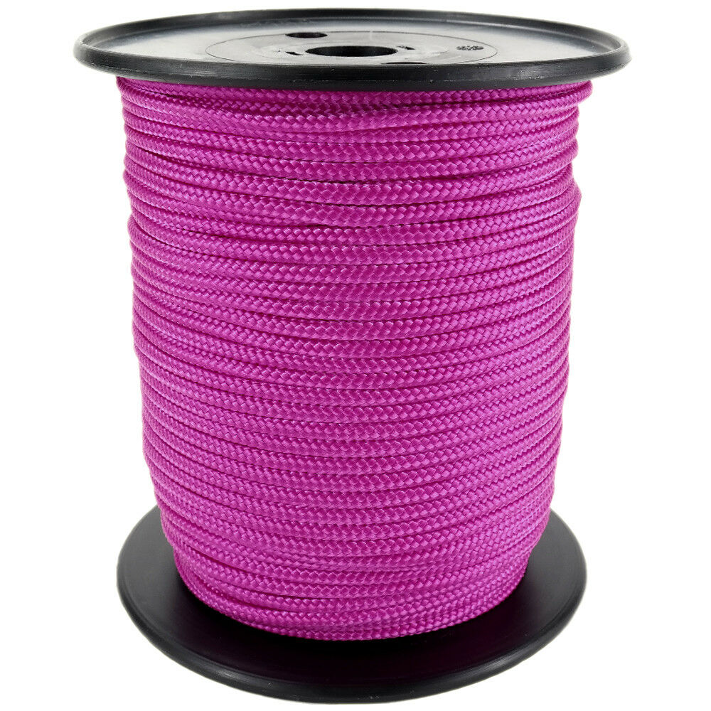 Polypropylene Rope PP 6mm 100m Dark-Pink (3150) Braided