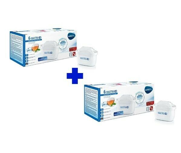 12 Filtri Maxtra+ Plus Per Caraffa Cartuccia Filtrante Brita