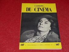 [REVUE LES CAHIERS DU CINEMA] N° 147 # SEPTEMBRE 1963 HITCHCOCK / TRUFFAUT EO