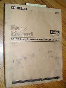 cat caterpillar 3516b parts manual book catalog engine generator rh ebay com Caterpillar 3516 Engine Specifications Caterpillar 3516 Engine Specifications