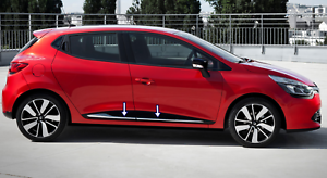 2012Up-Renault-CLIO-IV-4-HB-Chrome-Side-Door-Streamer-4Door-4Pcs-S-Steel