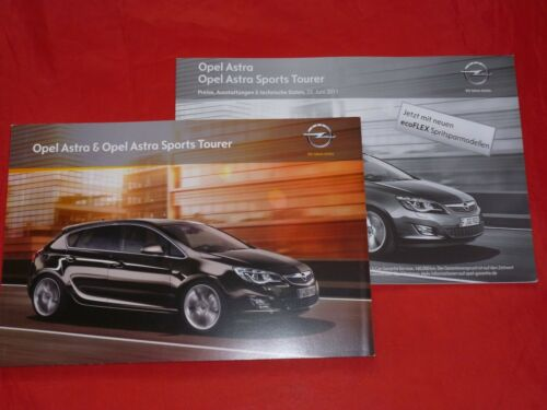 Preisliste von 2011 OPEL Astra J Limousine Sports Tourer Prospekt Brochure