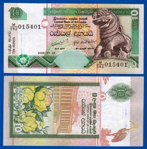 2006 2 PCS Srilanka 10 RUPEE Pick 108f Uncirculated From Bundle Banknotes