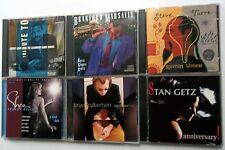 Lot Of 6 Modern JAZZ SAXOPHONISTS CD's Stan GETZ Branford MARSALIS etc. #CD8