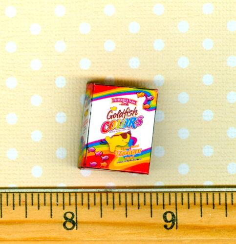 DOLLHOUSE Miniature Size Rainbow Fish Cracker Box