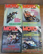 LOT 4 REVUES vintage MOTO JOURNAL ANNEE 1973 Nos 122 124 133 134