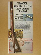 1978 CVA Mountain Rifle or Kit black powder gun photo vintage print Ad