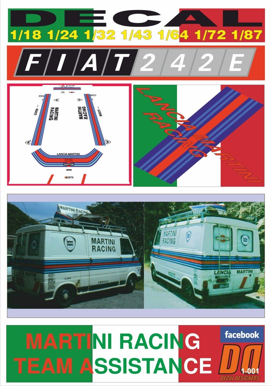 DECAL FIAT 242 E MARTINI RACING TEAM TEAM TEAM ASSISTANCE (03) 50fb92