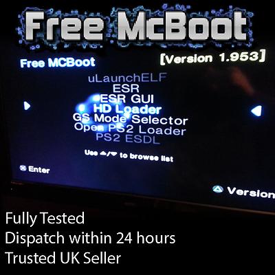 Free MCBoot 1 953 FMCB - Playstation 2 - 64MB Memory Card (ESR, HDL, OPL,  MORE) | eBay