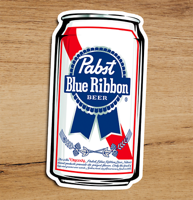 Pabst Blue Ribbon Beer PBR ART Pizza Oven Mitt Sticker Craft Beer Brewing