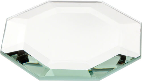 3 inch x 3 inch Plymor Octagon 5mm Beveled Glass Mirror