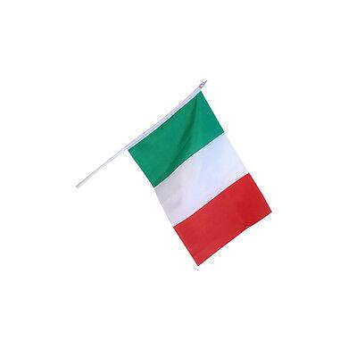 Bellissimo ★bandiera Dell'italia Bandierina Con Asta 60 Cm Tricolore Italiana 45 X 30 Cm★ Rinfresco