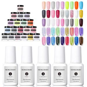 NICOLE-DIARY-10ml-Quick-Dip-Acrylic-Nail-Dipping-Powder-Pro-Starter-Kits-NO-UV
