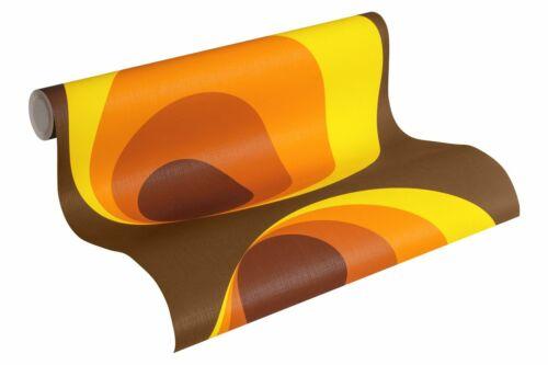 2,94 £//1qm Papier peint comme cercles marron rouge orange 7013-12 7013 12