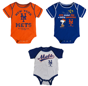 new concept b95e5 6d910 Details about MLB New York Mets Baby Boys' One Piece Bodysuit Creeper  Choose Style And Size
