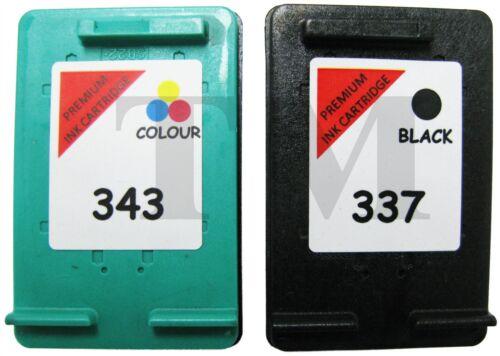 Remanufactured 337 Nero Cartuccia Di Inchiostro a Colori 343 Combo Fit HP Photosmart 2575xi