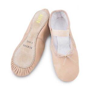 Rosa Cuero Zapatos De Ballet Suela Bloch surgen completo-todos Los Tamaños