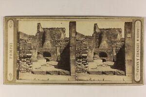 Italia-Pompei-Forno-Foto-Amodio-amp-Sprungli-Napoli-Stereo-Vintage-Albumina-c1865