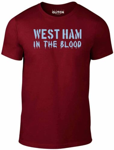 West Ham In The Blood Retro Style New T Shirt Football Supporter The Hammers