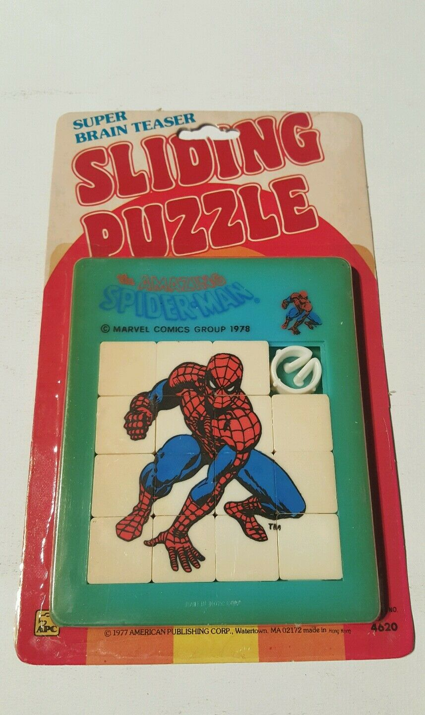 Spiderman sliding puzzle 1978 ( Blau ) apc