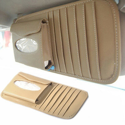 New Sun Visor 2-in-1 Paper Tissue Box CD DVD Holder Bag Pocket Car Accessories