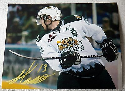 Detroit Red Wings Landon Ferraro Auto Everett Silvertips WHL 8x10 Photograph