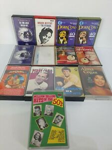 Vintage-Retro-50-039-s-Pop-Music-Cassettes-Tapes-Bundle-x-13-Perry-Como-Andy-William