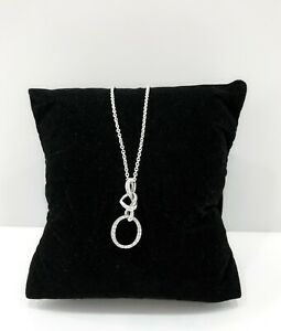 New Pandora 925 Silver Perfect Gift Knotted Heart O Logo Necklace 398078cz 5700302776447 Ebay
