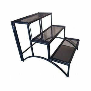 Image Is Loading Folding Plant Stand 3 Shelves Tiered Rectangle Outdoor