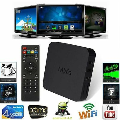 MXQ KODI Android Google Smart TV Box Quad Core WIFI HD 1080P Media Player 8G