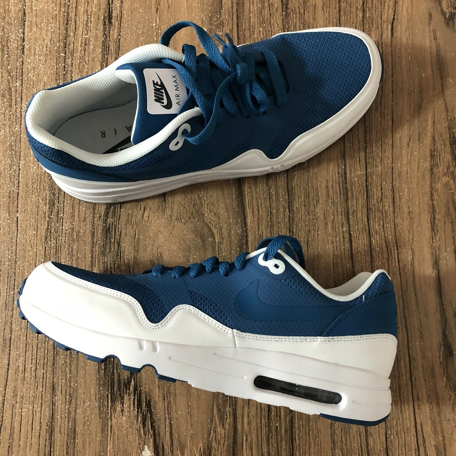 A651G Nike Air Max 1 Ultra 2.0 875679-402 Blue White Mens Sneakers Size 10 NEW