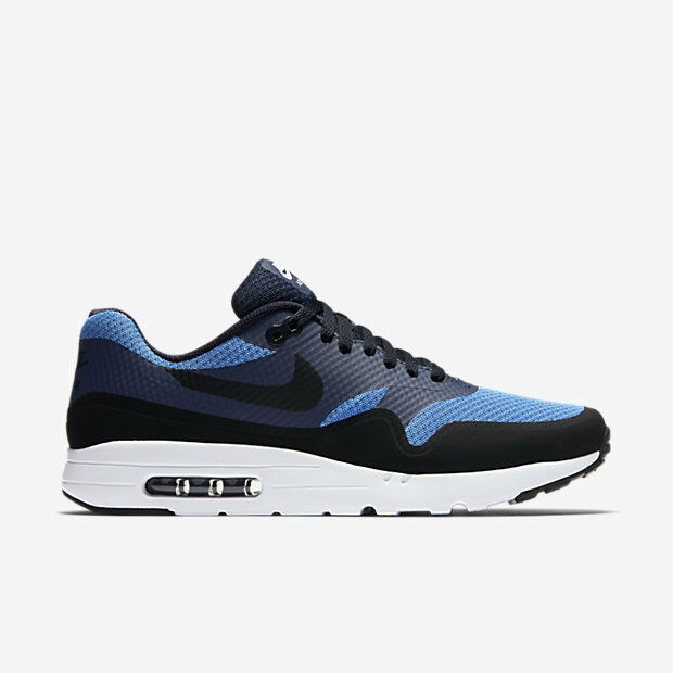 819476-401 Men's Nike Air Max 1 Ultra Essential Shoe!! STAR BL/BLK/OBSDIAN/WHT!! The latest discount shoes for men and women